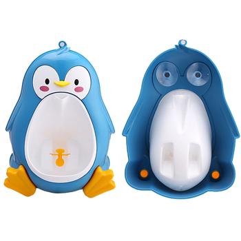 Pisuar dla dzieci dzieci chłopcy nocnik wc szkolenie żaba pingwin zwierząt kształt dla dzieci dzieci stoją pionowe pisuar niemowlę Penico Pee tanie i dobre opinie Potties Z tworzywa sztucznego Stałe Baby Urinal 7-9 M 10-12 M 13-18 M 19-24 M 2-3Y 4-6Y