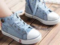 продвижение высокого верха детей холст обувь для мальчиков / девочек размер 25 - 37 обувь кроссовки детские джинсы мальчиков девочек бренд обуви для детей