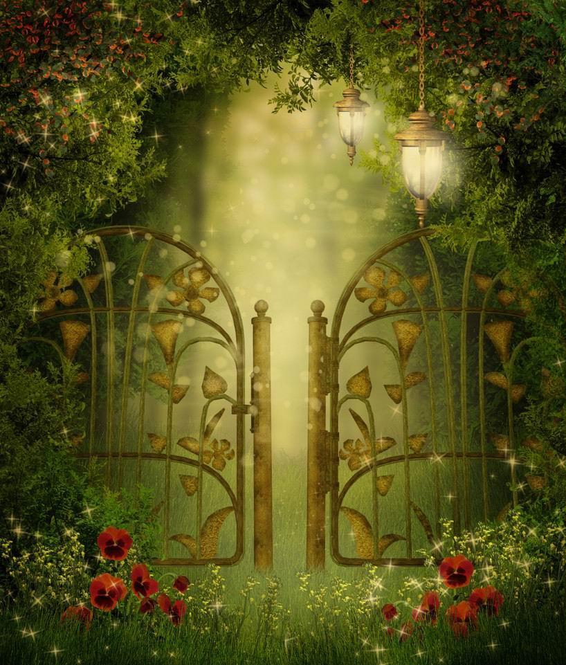 Secret Garden: Free Shipping NEW DIY Full Diamond Painting Door To The