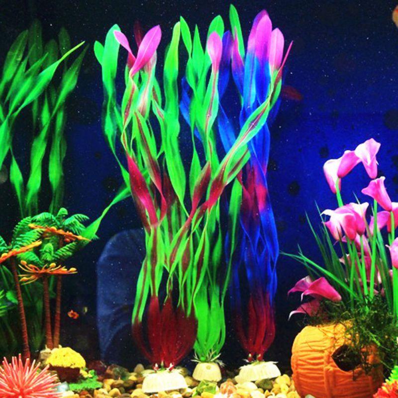 Water Aquarium Grass Water Simulation Plants Fish Tank Decoration Landscape Fake Plants Sea Tangle Glass Decorations