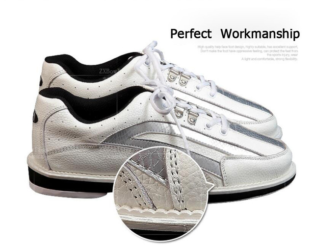 Professional unisex bowling shoes right & left hand anti-skid outsole sneakers genuine leather breathable Reflective shoes 3