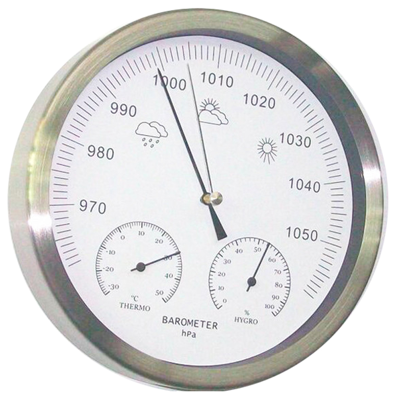 7.8 Inches Thermometer Hygrometer Barometer Weather Station european style dark gray 22 5cm 3 in 1 thermometer hygrometer barometer weather station