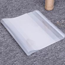 10Sheets Transparent Clear 16K B5 Books Covers + Name Label School Gradebook Protector Clothing Film Office Brochure File  70556