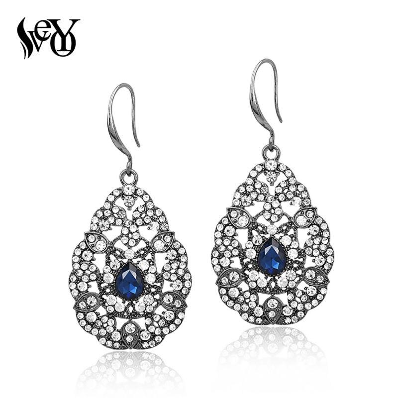 VEYO Pendientes de cristal Pendientes de diamantes de imitación de - Bisutería - foto 2