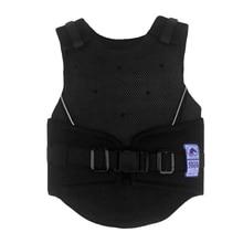 Купить с кэшбэком Adjustable Equestrian Horse Riding Vest Protective Waistcoat Body Protector Guard for Kids 3 Size Options