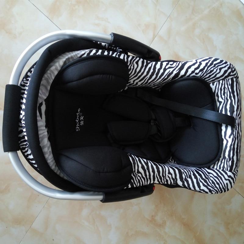Svartvita Stripes Barnsäte Newbore Zebra Mönster Baskert Bil - Barnsäkerhet - Foto 2
