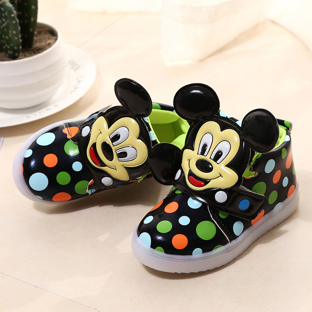 Cartoon Sneakers Kids Led Sport Shoes