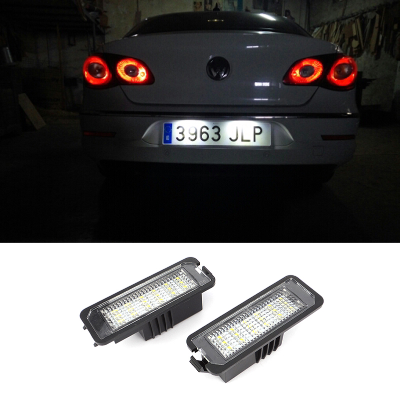 2pcs Led Light Number License Plate Lights Bulb For