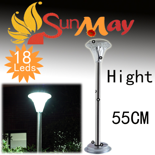 ФОТО 55CMStainless Steel LED Solar Light Lamp Outdoor Garden Path Lawn Lamp LED Spot Light Landscape pathway stick walkway aisle lamp