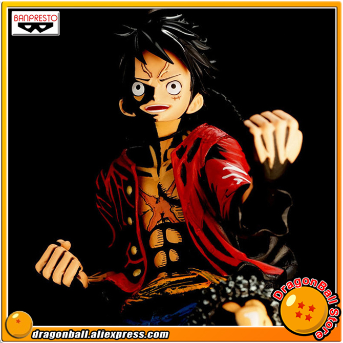 Japan Anime ONE PIECE Original BANPRESTO KING OF ARTIST Collection Figure - Monkey D. Luffy (Color Version) anime one piece monkey d luffy gear fourth pvc action figure collection model toy
