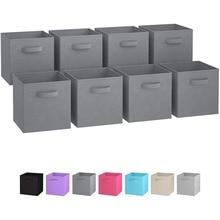 Горячая Складная тканевая коробка для хранения кубические ящики тканевый Органайзер корзины для хранения складной шкаф для детской комнаты с двумя ручками