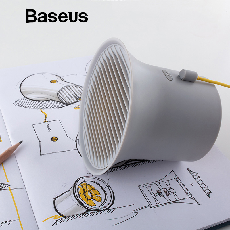 Baseus Mini USB Cooler Fan Protable Cooling Desk Fan for Office Homes Desktop Double-vane Air Conditioner 2-Speed Adjustable Fan delta gfb0912ehg 9250 92x92x50mm 12v 2 10a double ball bearing double motor double fan leaves high speed server cooling fan page 2