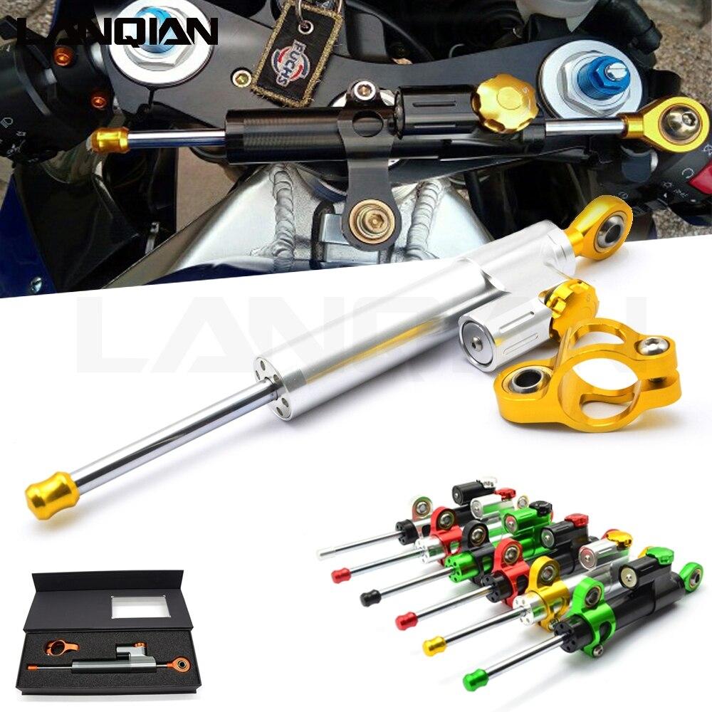Pour BMW K1200R SPORT K1200S K1300 S/R/GT K1600 GT/GTL universel en aluminium moto amortisseur direction stabiliser contrôle de sécurité