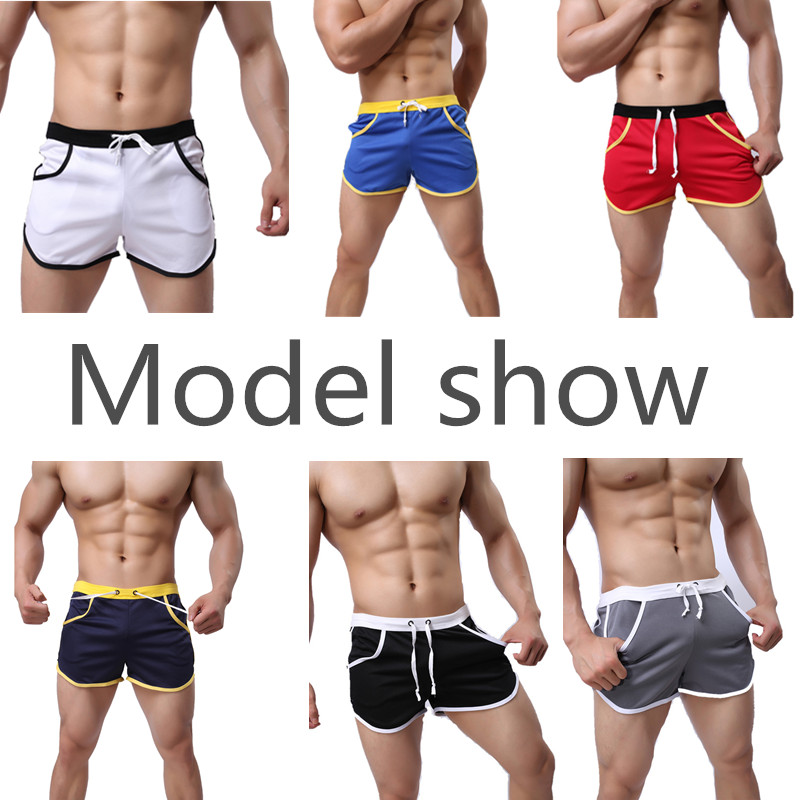 2019Quick Dry Clothing Men's Casual Shorts Household Man Shorts Straps Inside Trunks Beach Shorts Breathable Cotton Comfortable