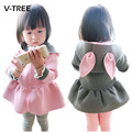 NEW baby girls clothes jacket coat cartoon rabbit kids fashion hoodied tops outwear children's spring autumn coat baby's clothes