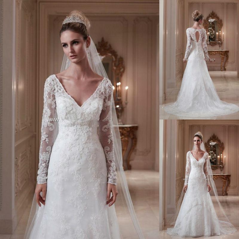 Diamond Wedding Gown: Aliexpress.com : Buy Noble Ivory Lace Keyhole Back Woman