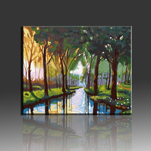 DIY Oil Painting By Numbers Art Canvas Tree Coloring By Number Wall Picture Home Decoration Picture Peinture Au Numero 0329zc066 home wall furniture decorations diy number oil painting children graffiti sandy beach coconut tree painting by numbers