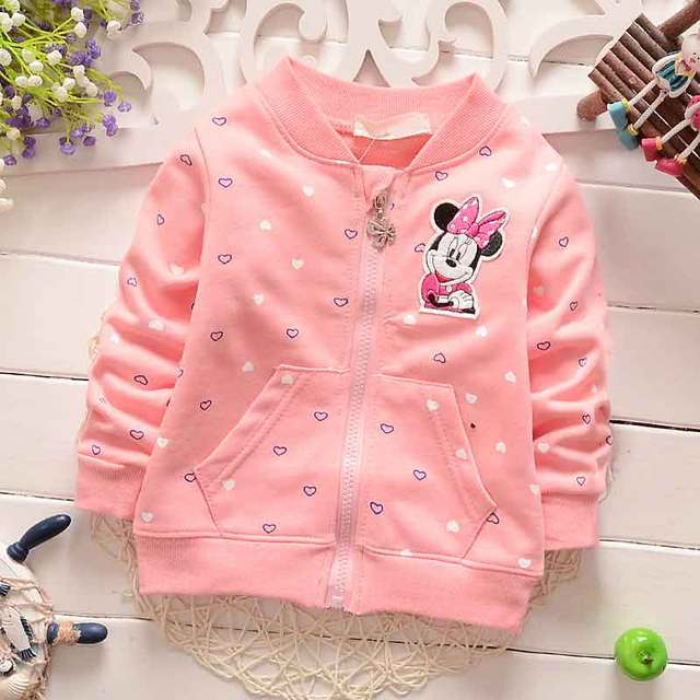 2016 NEW Spring Baby Kids Girls Infant  Love cute little mouse o-neck long-sleeved Coats Jackets Outwear  cardigan Y1661
