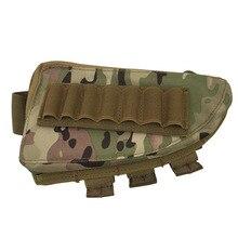 Tactical Rifle Shotgun Buttstock Cheek Rest Rifle Stock Ammo Shell Nylon Magazine Molle Pouch Holder Hunting Camo Bag