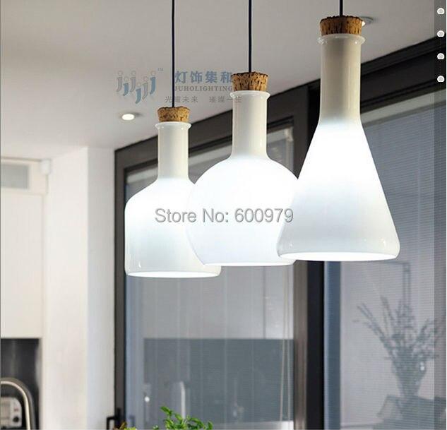 Lámpara pendiente de cristal moderna 3 luces comedor creativo ...