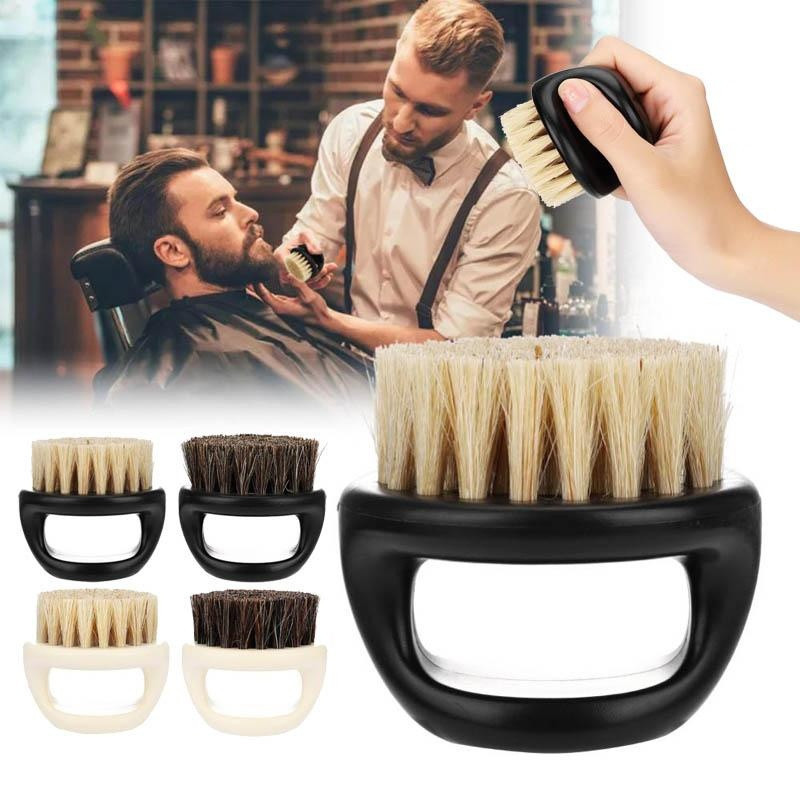 New Men's Special Wild Boar Bristle Beard Brush Comb Set Plastic Beard Comb Beard Care Set Comb Beard Tool Brushes Hot Selling