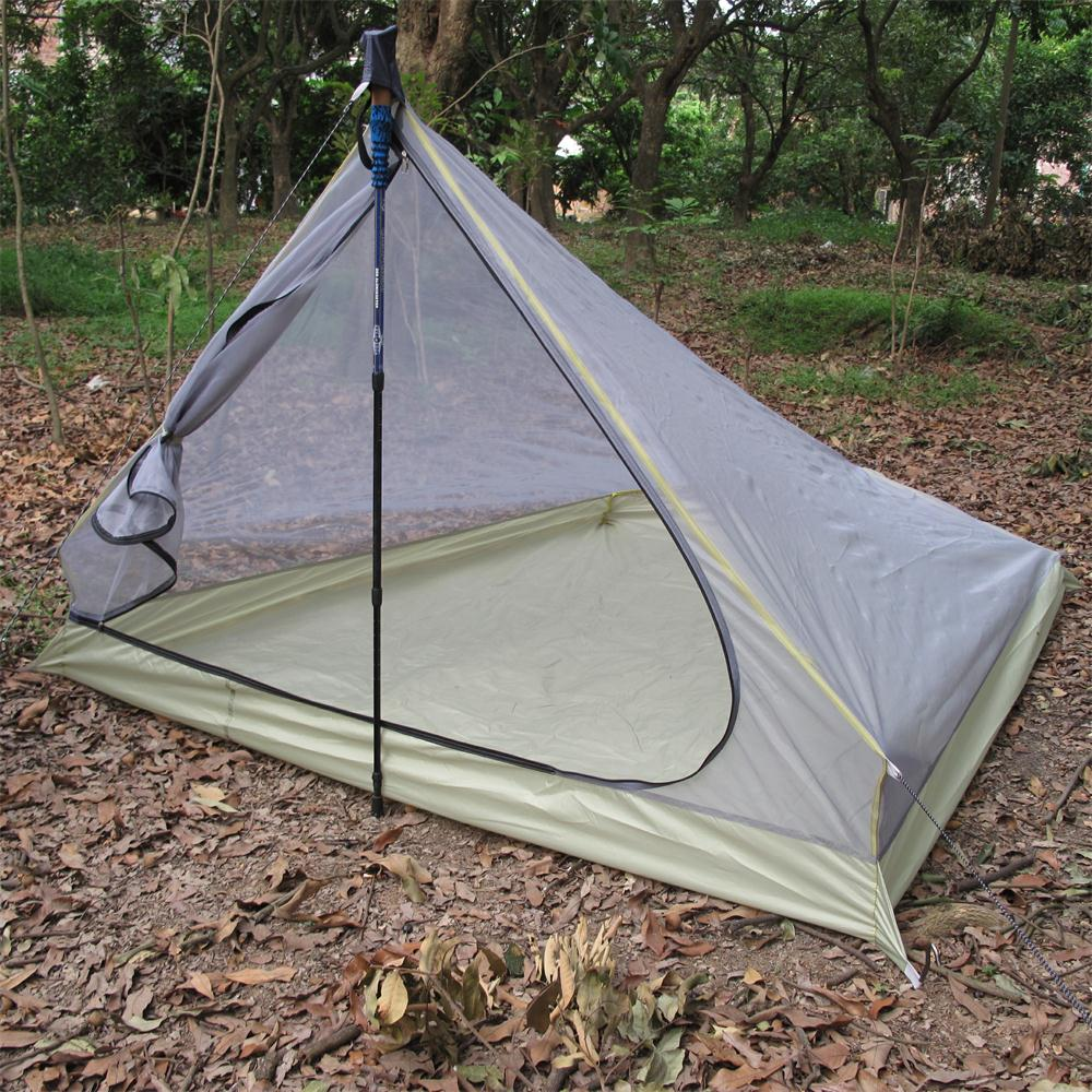 ФОТО Outdoor Travel Large Camping Tent 2-3 Person Three Season Tent Inner Tent Only Mosquito Net/Mesh Ultralight Camping Equipment