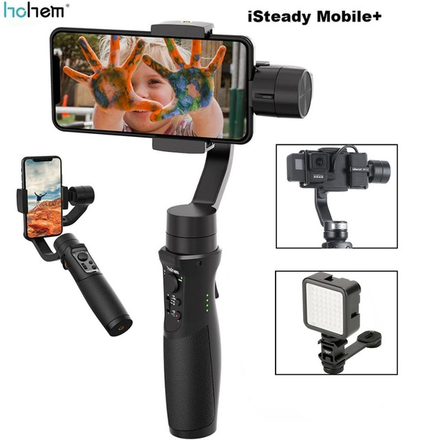 New Hohem iSteady Mobile+ Plus Gimbal 3-Axis Handheld Smartphone Stabilizer for iPhone XS XR X 8 7 6 for Samsung Huawei Gopro web page
