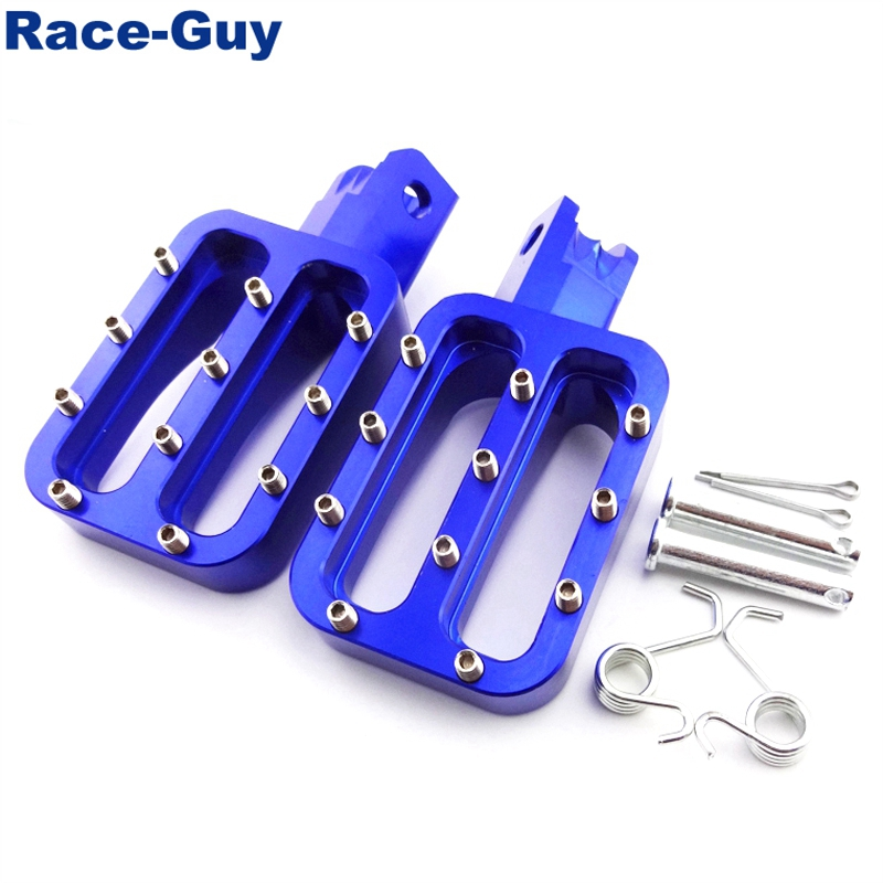 Race-Guy Blue CNC Aluminum Footpegs Foot Rest Pegs For Chinese Pit Dirt Motor Bike Motorcycle 50cc-160cc