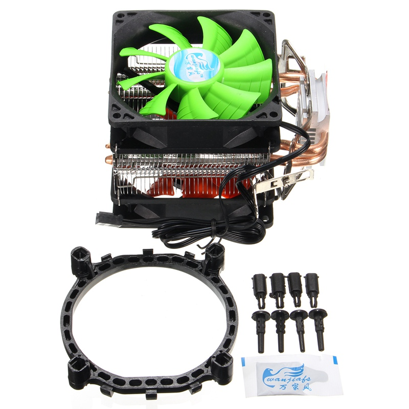 Dual Fan Hydraulic CPU Cooler Heatpipe Fans Cooling Heatsink Radiator For Intel LGA775/1156/1155 AMD AM2/AM2+/AM3 for Pentium 4 heatpipe 130w red cpu cooler 3 pin fan heatsink for intel lga2011 amd am2 754 l059 new hot