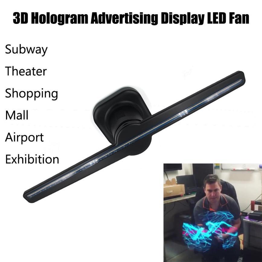 Home fashion 3D Hologram Advertising Display LED Fan Holographic Imaging 3D Naked Eye LED Fan jan5