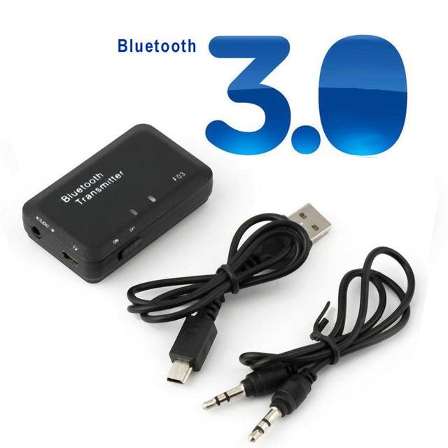 1 Pcs Transmissor Transmissor de Áudio Sem Fio Estéreo Bluetooth V3.0 Eletrônico para Adaptador de Áudio Do Computador TV 3.5mm OD # S