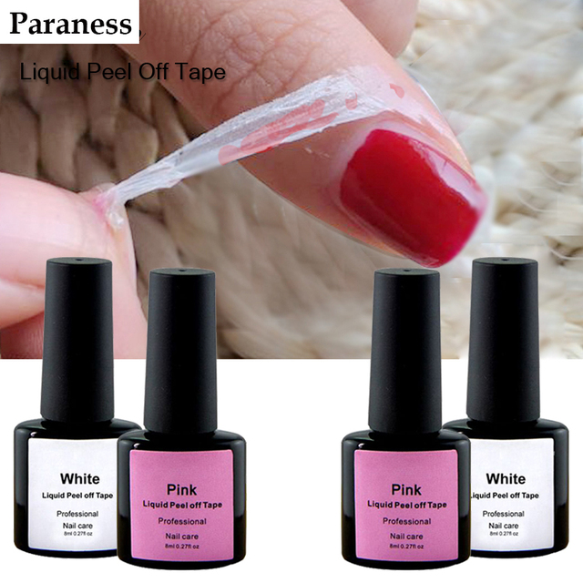 Paraness Peel-off Tape 8ml for Removing Gel Varnish Nail Art Semi Permanent Uv Gel Polish Led Enamel Gel Lacquer
