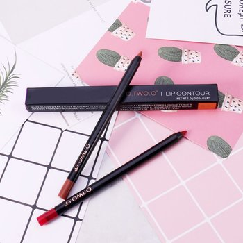 12 Colors  Pencil Waterproof Smooth Matte and Long Lasting Ultra Fine Lip Pencil Lip Make Up Cosmetic Q1 Lip Liner