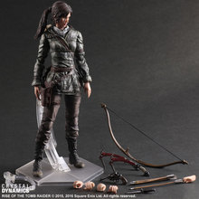 Tomb Raider Action Figure Lara Croft Play Arts Kai Movie Rise of The Tomb Raider Lara PLAY ARTS Toys Game Tomb Raider Playarts