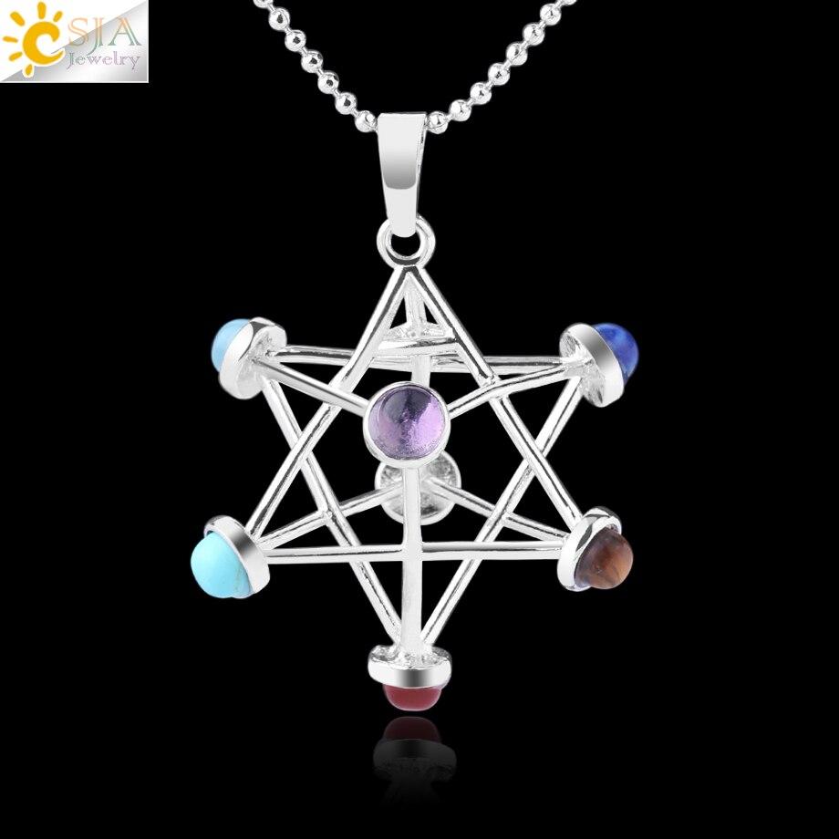 CrystalTears Healing Crystals Rose Quartz Pendulum,7 Stones Sacred Geometry Platonic Solids with Merkaba Star Set for Divination,Meditation,Reiki Balancing