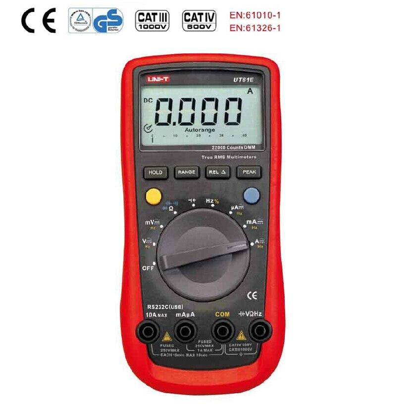 ФОТО 2016 HOT selling UNI-T UT61E  Digital Multimeter Modern Digital Multimeters AC DC Meter CD Backlight & Data Hold Multitester