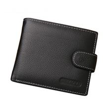 Новый модный мужской кошелек короткий клатч из искусственной