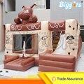 Дешевые Надувная Собака Вышибала Замок Батут Игрушки с Горкой для Продажи