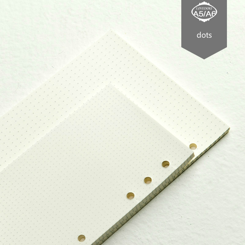 Befriend Quality New Points For Designer Filler Papers A5 A6 A7 Loose-leaf Refill Lattice Travel Journal Filler Papers