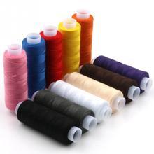 12 цветов/набор швейная вязальная катушка с нитью для ручного шитья машинная швейная нить тончайший полиэстер прочный