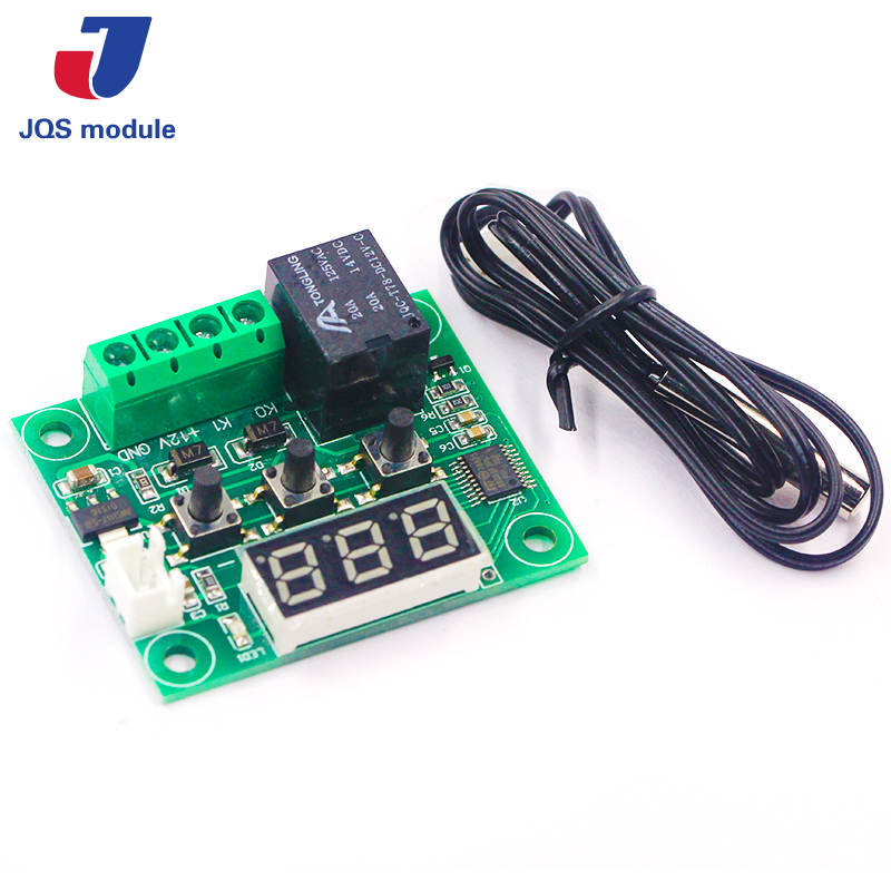 1PCS W1209 DC 12V heat cool temp thermostat temperature control switch temperature controller thermometer thermo controller w1209 green led digital thermostat temperature control thermometer thermo controller switch module dc 12v waterproof ntc sensor