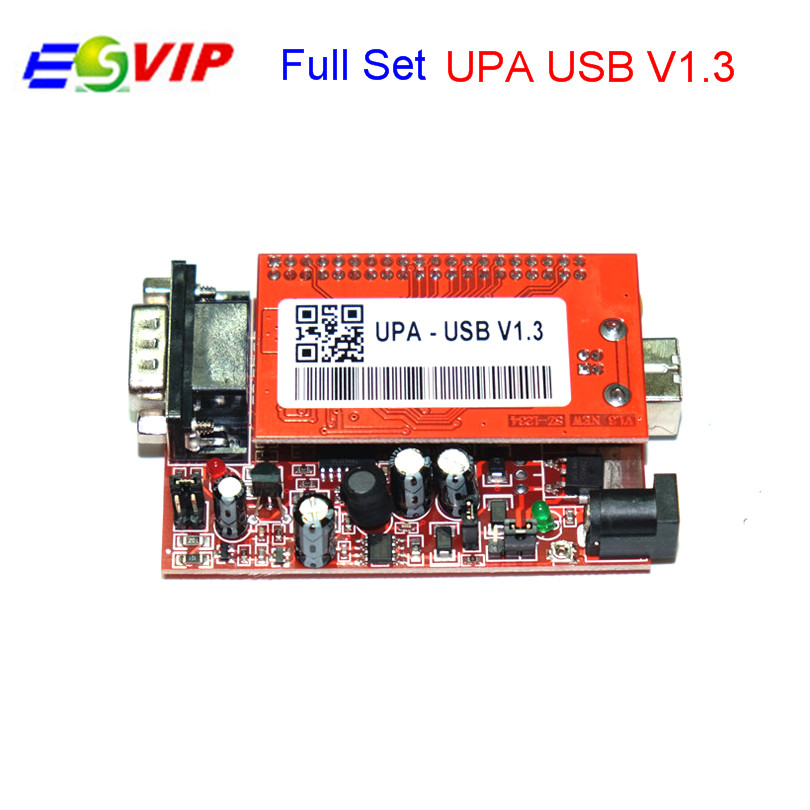 Best Qualtiy UPA USB Programmer V1.3 Auto ECU Chip Tuning Tool UPA Red With Full Adapters DHLfree unlimited tokens ktag k tag v7 020 kess real eu v2 v5 017 sw v2 23 master ecu chip tuning tool kess 5 017 red pcb online