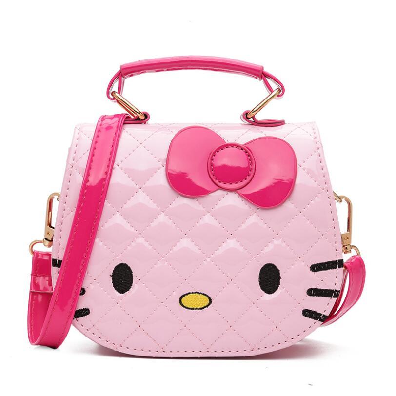 New Children Cartoon Hello Kitty Bowknot Handbag Girls Cute Shoulder Bag Kids Tote Girls Shoulder Bag Mini Bag Wholesale 5 Color