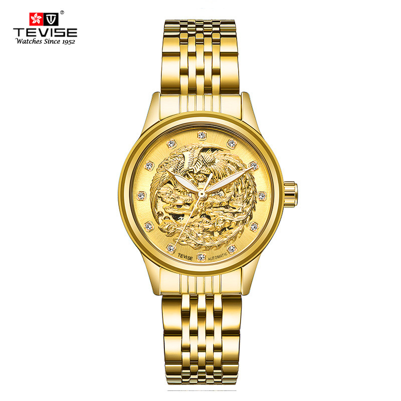 TEVISE 2018 New Brand Waterproof Wristwatches Top Luxury Brand Women Mechanical Watch Ladies Wristwatches Gifts brand new