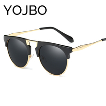 YOJBO Cat Eye Polarized Sunglasses Women 2017 Fashion Retro Mirror Sun Glasses Oversized  Vintage Brand Designer Glasses Big Eye