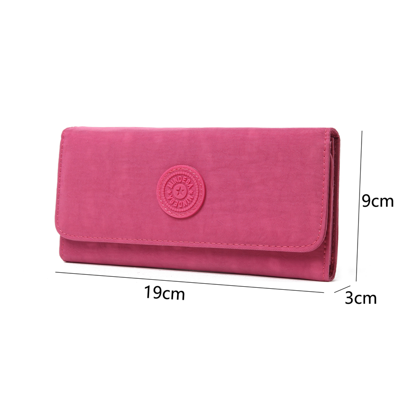 Kedanison Long Wallet Women Money Bag Female For Credit Card Nylon Lady Purse With Card Holder