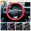 XUKEY Leather Texture Car Auto Swirl Silicone Steering Wheel Cover Hand Skidproof Glove Soft Shell Odorless Protector Non Slip