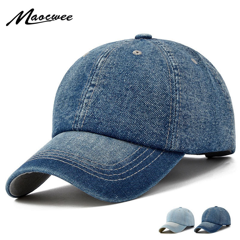 Baseball Cap Men Women Snapback Dad Caps Brand Golf Hats for Women Visor Bone Jeans Denim Blank Gorras Casquette Plain 2017 New new high quality warm winter baseball cap men brand snapback black solid bone baseball mens winter hats ear flaps free sipping