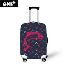 Newest Tropical Fish Luggage Protective Cover Apply to 22-26 Inch Suitcase Elastic Travel Luggage Dust Covers Ocean Animal Cover
