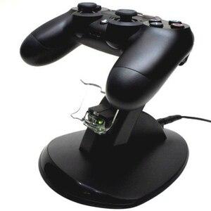 Image 2 - デュアル USB 充電ドックソニーのプレイステーション 4 コントローラゲームパッドハンドルクレードルダブル充電充電器 PS4 ゲームアクセサリー